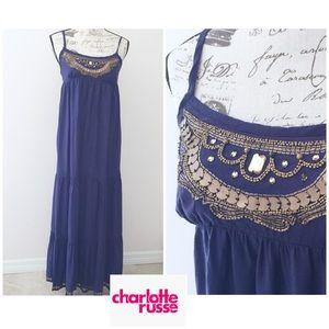 Charlotte Russo BOHO maxi strapped dress